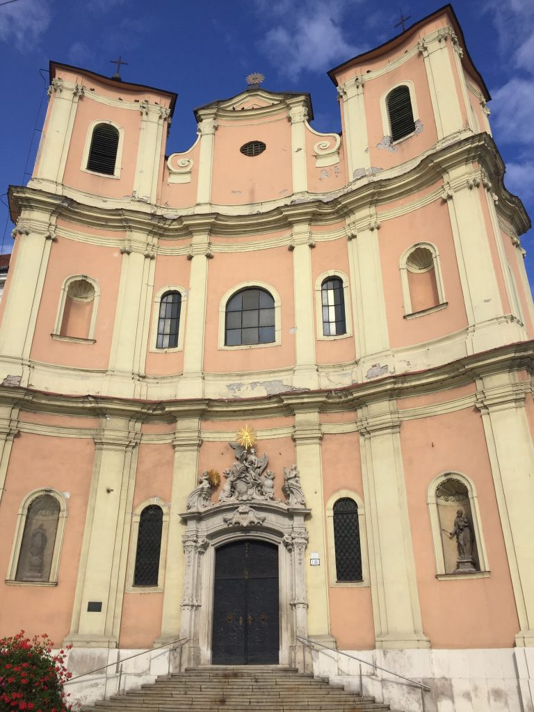Trinity Church, also known as the Church of Saint John of Matha and Saint Felix of Valois, is a beautiful Baroque church noted for the three towers. Photo credit: Monique White