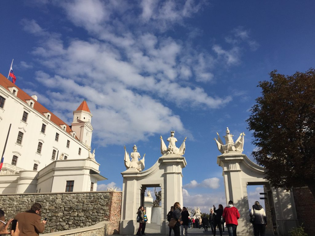 Bratislava Castle sits high above the city and offers stellar views of the Danube. Photo credit: Monique White