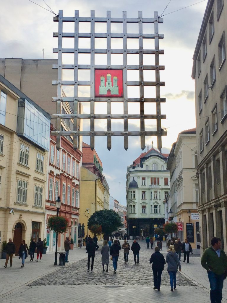 The capital of Slovakia, Bratislava, sits on both banks of the Danube and on the border of 3 countries. Photo credit: Monique White