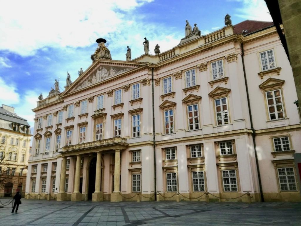 "The baroque pink palace, known for its ""Hall of Mirrors"", is where Napoleon signed ""The Peace of Pressburg"" treaty."