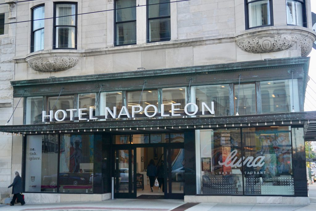 Hotel Napoleon, located inside the iconic Press Scimitar Building, is centrally located in downtown Memphis. Photo credit: Monique White