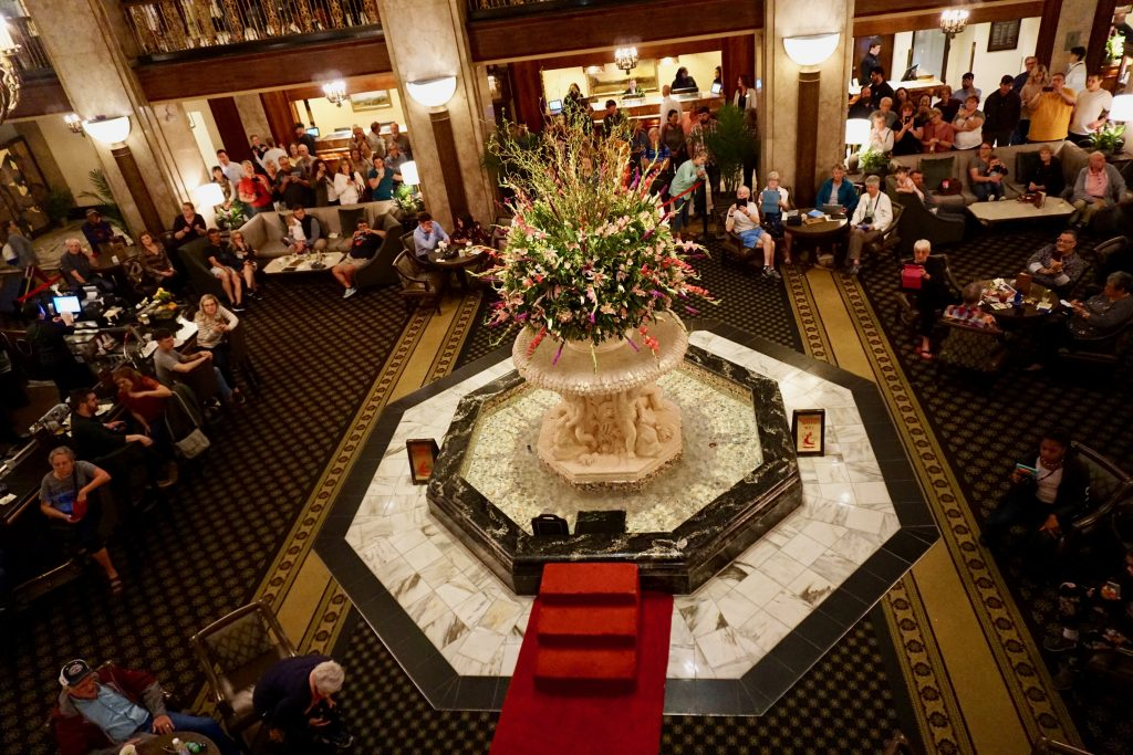 The Peabody Hotel duck parade is a tradition that dates back to the 1930's. Photo credit: Monique White
