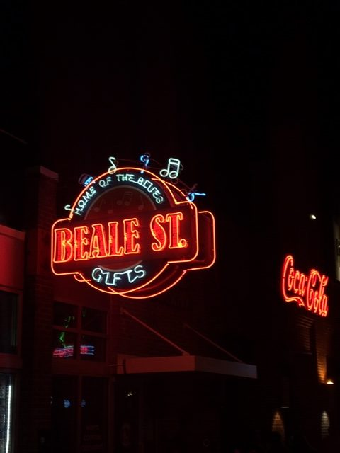 Beale St. is the beating heart of Memphis, and is lined with blues clubs, bars and restaurants. Photo credit: Monique White