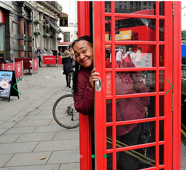 Avril Nanton of Avril's Walks and Talks shows visitors the deep connections of London to the transatlantic slave trade and Black history. Photo Credit: Avril's Walks and Talks