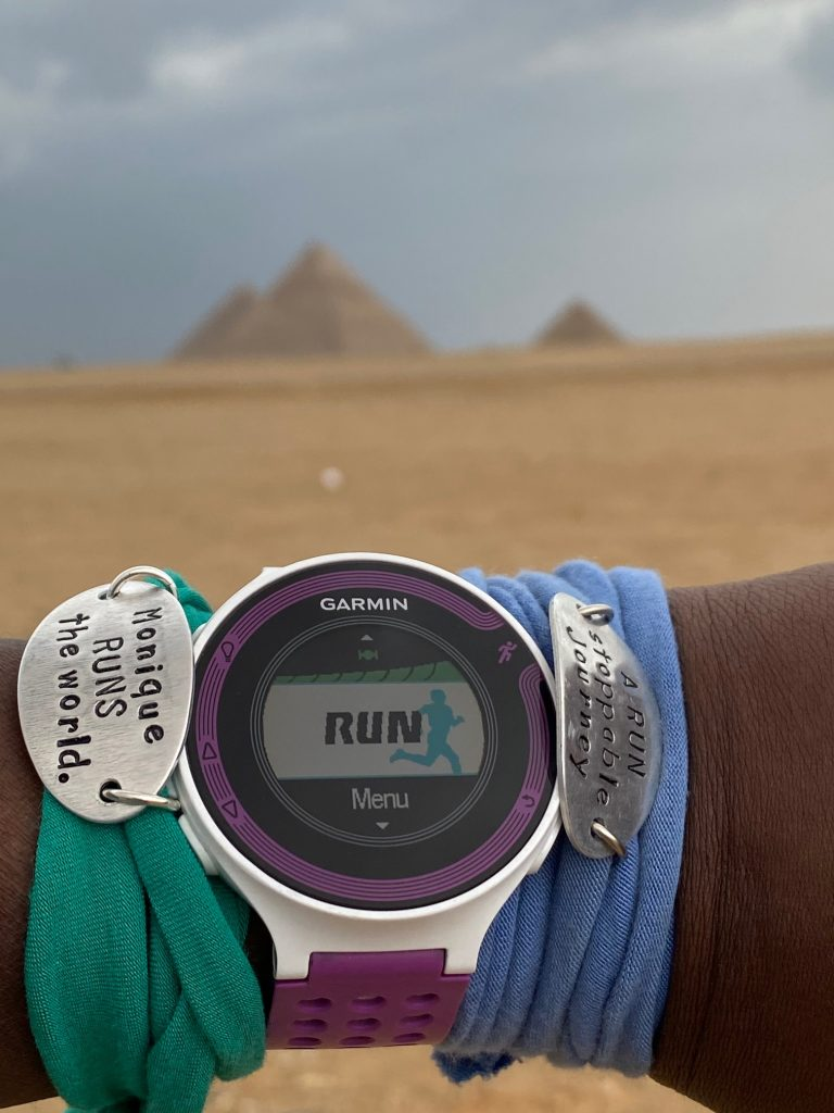 """A look at the Pyramids Half Marathon, which takes runners on a """"race through history"""" in the shadow of the Great Pyramid of Giza, the oldest and last remaining of the Seven Wonders of the Ancient World. Photo credit: Monique White"""