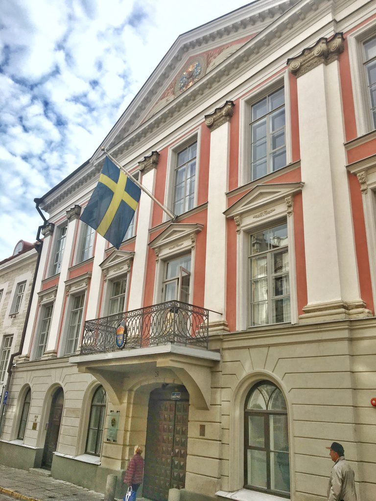 The Swedish Embassy is considered the finest example of classical baroque style in Estonia. Photo credit: Monique White