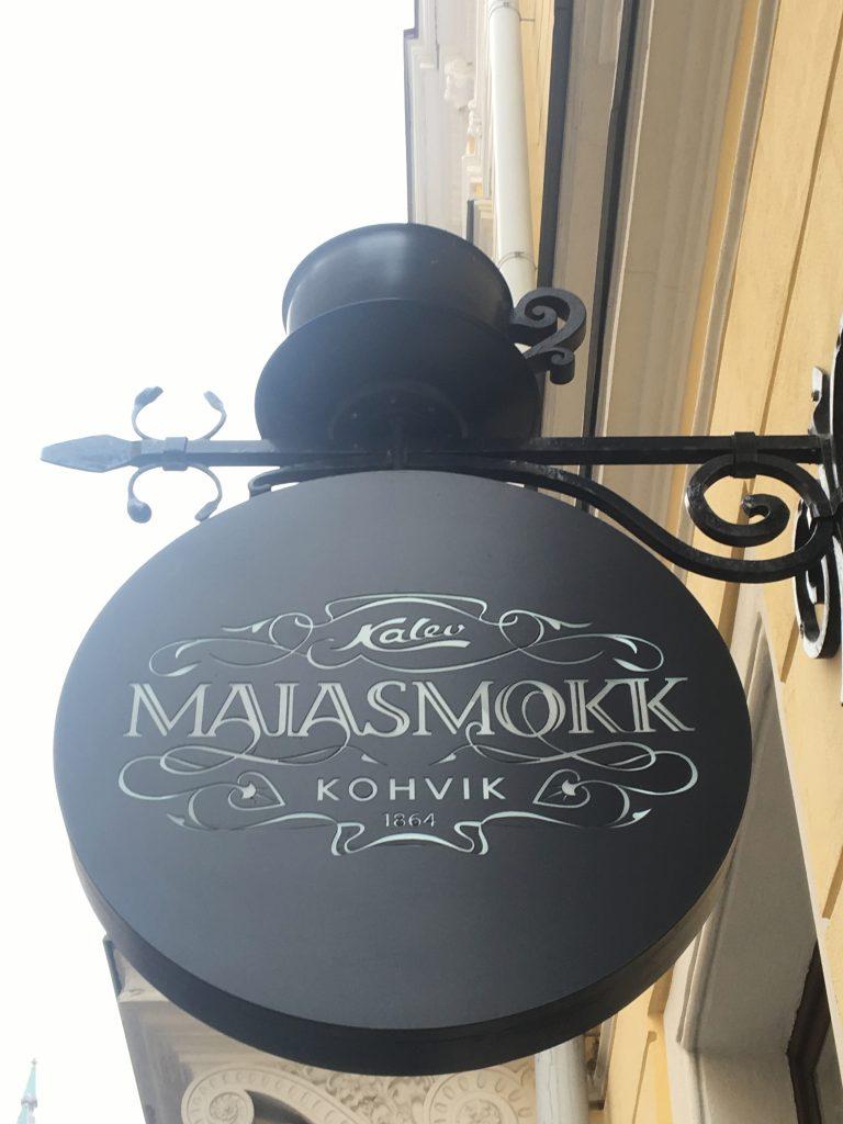 Estonia's oldest operating café, Maiasmokk, is famous for its marzipan. Photo credit: Monique White