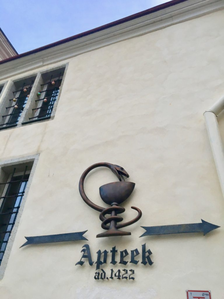 Raeapteek dates from 1422, and is one of Europe's oldest pharmacies. Photo credit: Monique White