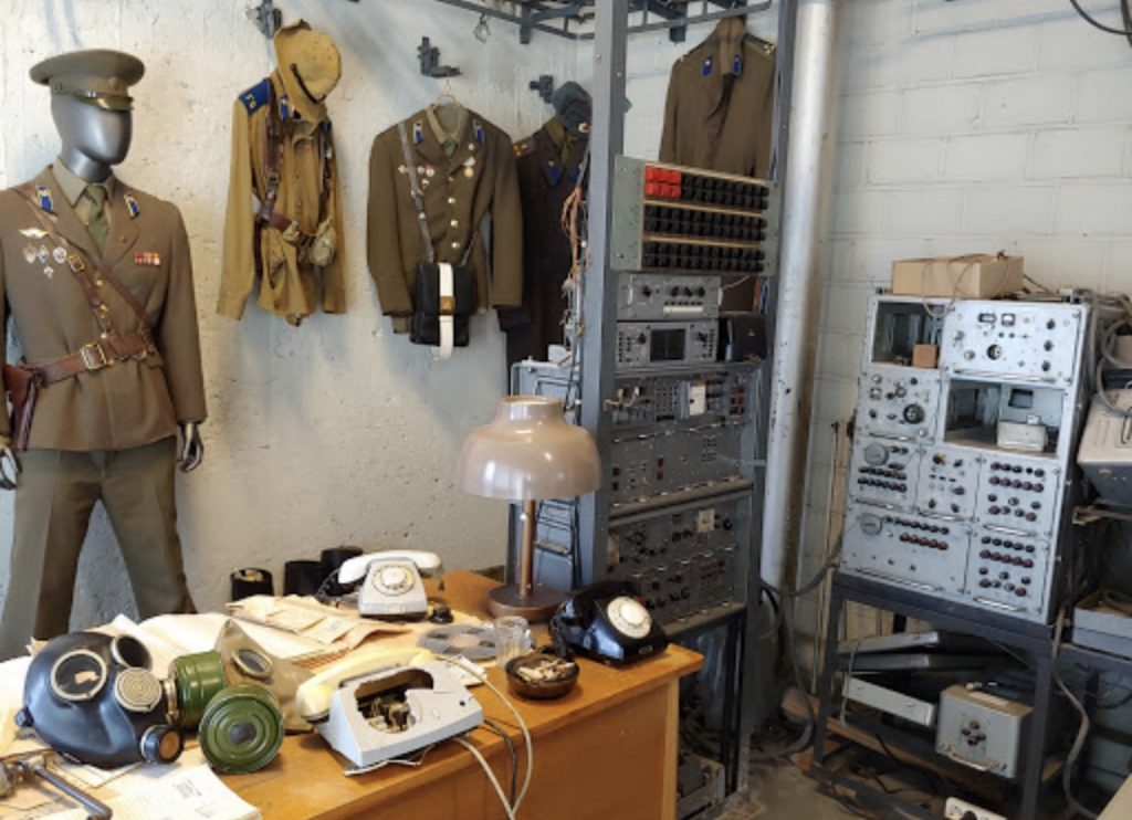 The KGB Museum displays artifacts from the Soviet occupation, including uniforms, cameras & spy gear.