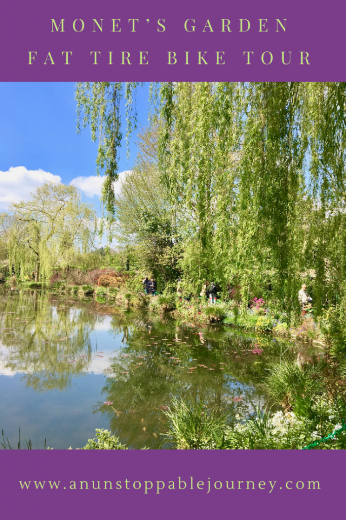 Making plans for what to do on your trip to France? A bike tour in Normandy to Monet's gardens and home could be just what you're looking for. #france #biketour #monetsgarden #travelhistory