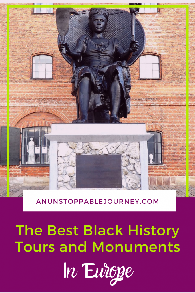 An increasing number of people, curious about Europe's rich Black heritage, are seeking out this history while traveling in Europe. Travel influencer Monique White highlights Black history tours in a number of cities, including Amsterdam, Paris, and Lisbon. Photo credit: Monique White Black History | Black History Tours | Black History Europe | Black History Month | Black Travel Guide |Black Travel Europe| Things to do in Amsterdam | Things to do in Copenhagen | Things to do in Lisbon | Things to do in Portugal | Things to do in France | Things to do in Paris | Nantes | Nantes Slavery Memorial | Le Château des Ducs de Bretagne | Europe travel planning | travel | travel tips | history | blm | Black travel blogger