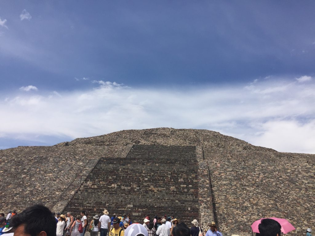 The ruins and pyramids of Teotihuacan is a UNESCO World Heritage Site and the most visited archaeological site in Mexico. The Pyramid of the Sun is the largest pyramid in Teotihuacan, and the 3rd largest in the world. Photo credit: Monique White   Mexico City | Mexico | Day Trips | Latin America | Mexico itinerary | Mexico Travel Guide | Mexico City Travel Guide | Mexico City Itinerary | Things to do in Mexico | Mexico Travel Tips | Mexico City Travel Tips | Taxco | Semana Santa | Passion Play | Things to do in Mexico City | Teotihuacan | Mexico travel planning | travel | travel tips